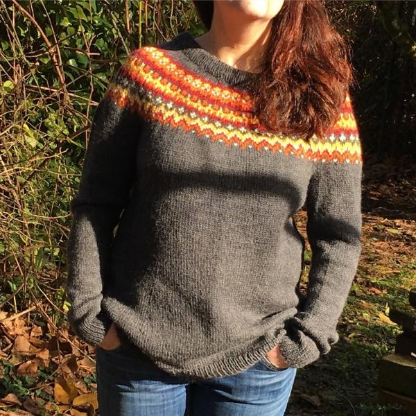 Blue Snowdrop Sweater (November 2017)
