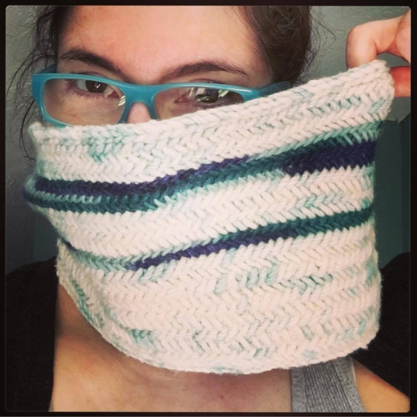 Alaska Herringbone Cowl (August 2017)