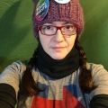 me pussyhat #3 before the Women's March