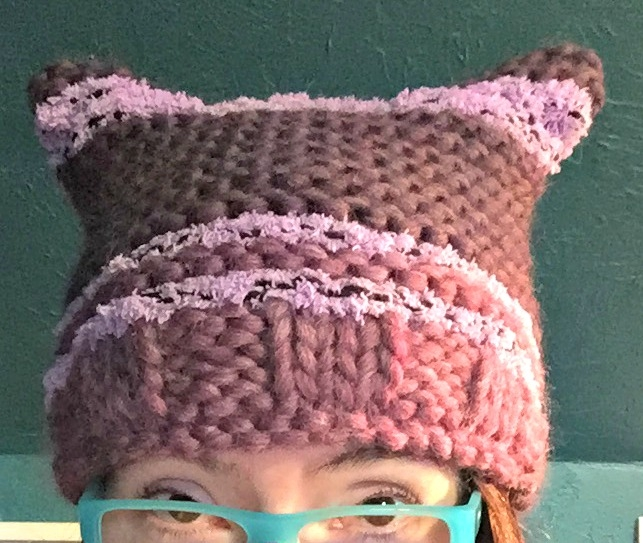 pussyhat #2 for my stepdaughter